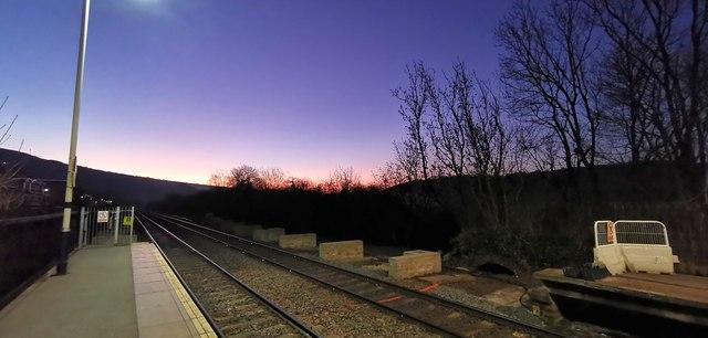 Hathersage Station at day break