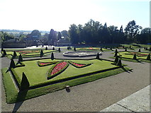 NZ0516 : Formal gardens at the Bowes Museum by Eirian Evans