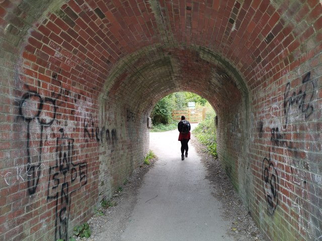 Subway beneath former railway line near St Catherine's Hill
