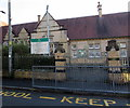 SO2914 : School entrance gates on the south side of Harold Road, Abergavenny by Jaggery