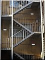 SP0686 : Emergency stairwell by Philip Halling