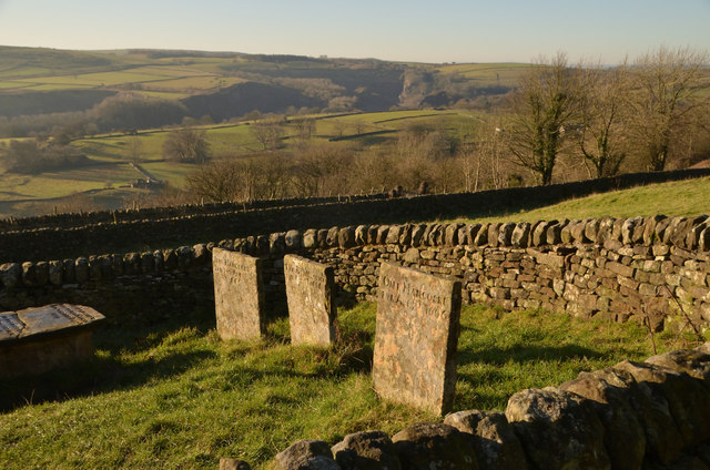 Three of the Riley Graves at Eyam, Derbyshire