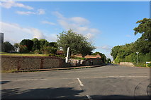TL4238 : Crossroads in the centre of Great Chishill by David Howard
