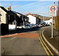 SO2914 : Start of the 20 zone at the southern end of Chapel Road, Abergavenny by Jaggery