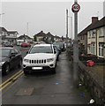 ST3090 : Cars parked on the Malpas Road pavement, Newport by Jaggery
