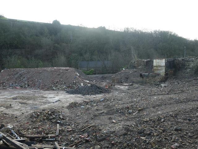 Demolition site, the former Holme Mills