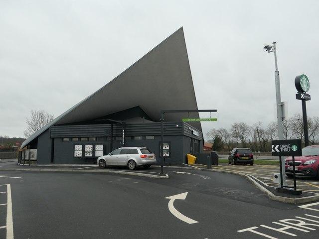 Starbucks' Drive Thru, alongside the A1, Markham Moor