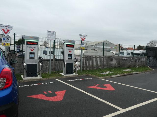 Refuelling points at Starbucks, Markham Moor