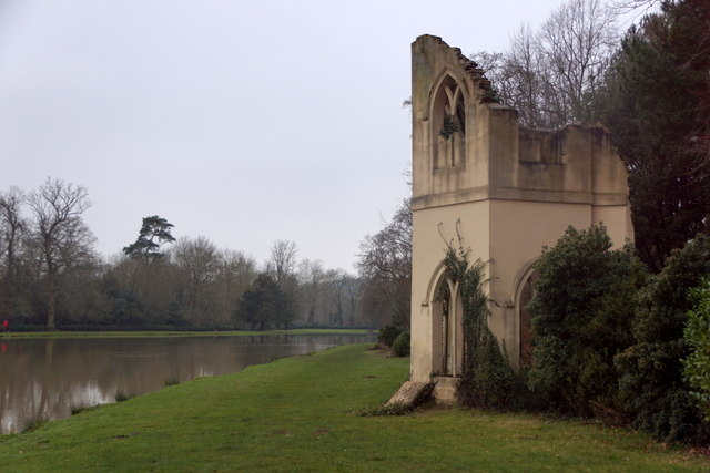 'The Abbey' - a folly at Painshill, Cobham