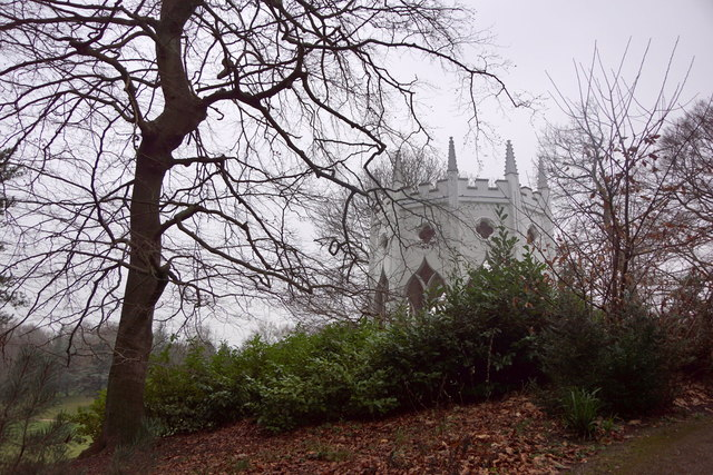 'The Gothic Temple' - a folly at Painshill, Cobham