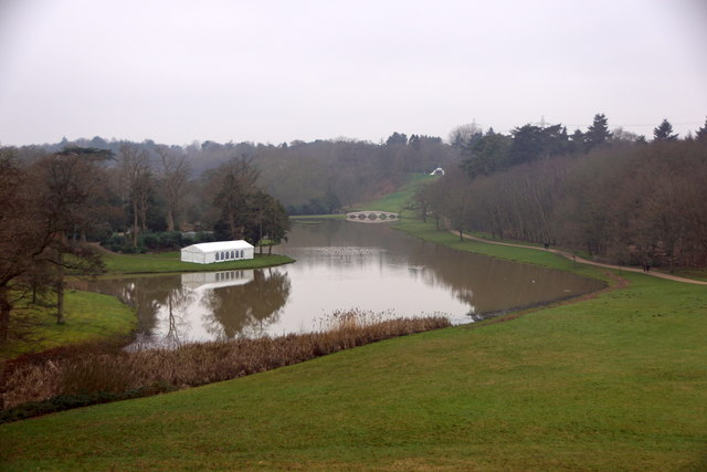 The Lake from the 'Gothic Temple' at Painshill, Cobham