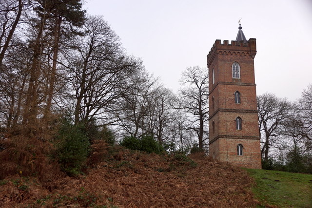 'The Gothic Tower' - a folly at Painshill, Cobham