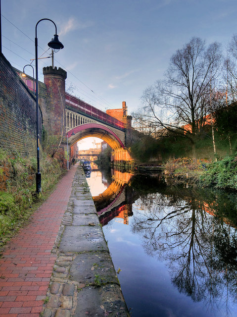 Railway Viaduct Crossing the Rochdale Canal near Deansgate