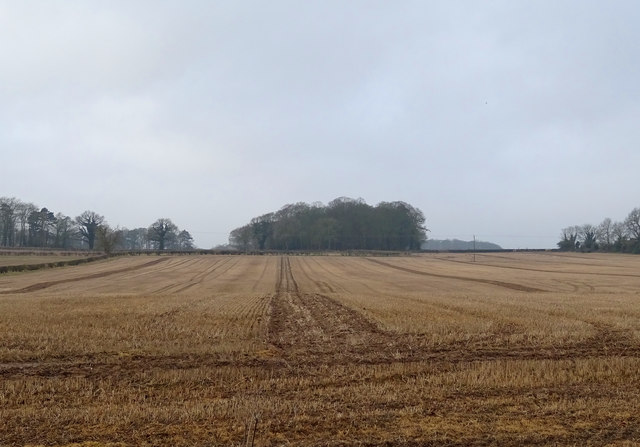Stubble field west of the B1248