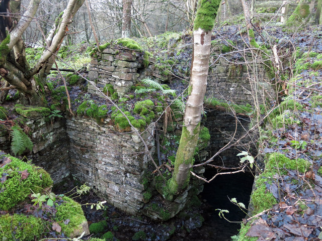 The former Brandon Walls lead mine and ore works - shaft