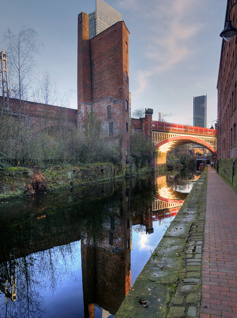 Rochdale Canal, Remains of Sawmill at Castlefield