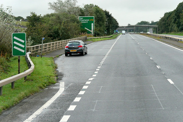 Layby on the Irvine Bypass (A78)