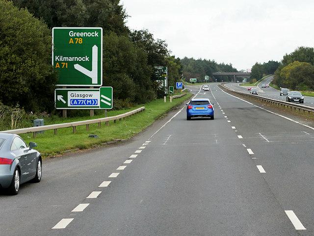 Northbound A78 near Irvine