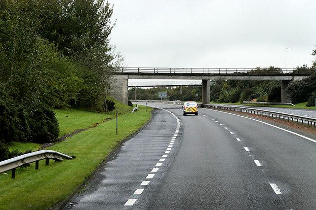 A78, Bridge at Newhouse Interchange