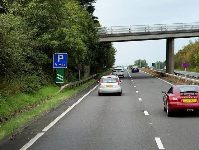 Bridge over the A78 near Laigh Hillhouse Farm