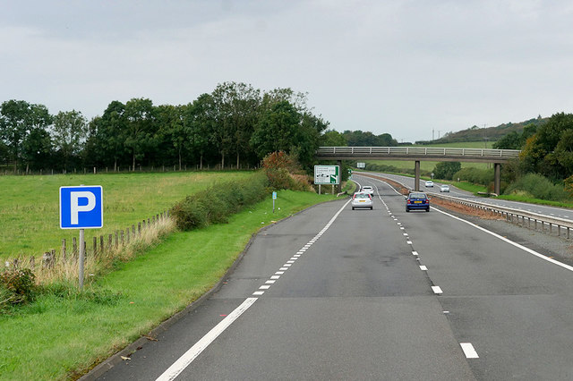 Layby on the A78 near Troon