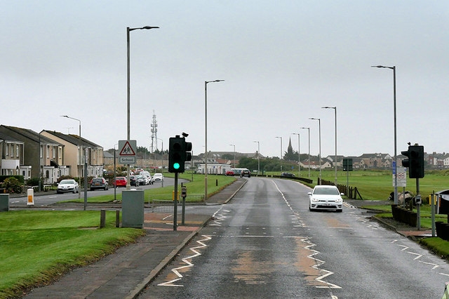Pedestrian Traffic Lights on Beach Road