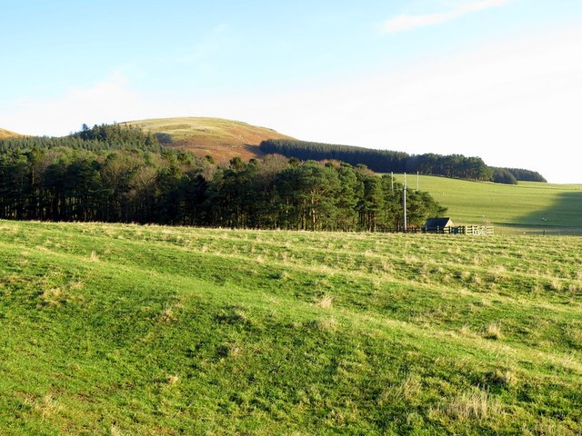 Ridge & furrow ploughing south of Clennell Hill