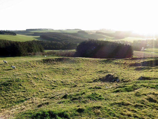 Hill fort at Camp Knowe