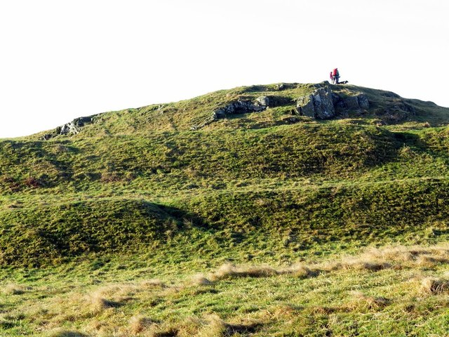 Hill fort at Camp Knowe from the north