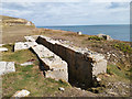 SY9876 : Industrial remains at Seacombe Quarry, Isle of Purbeck by Phil Champion