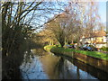 TQ2669 : River Wandle near Merton by Malc McDonald