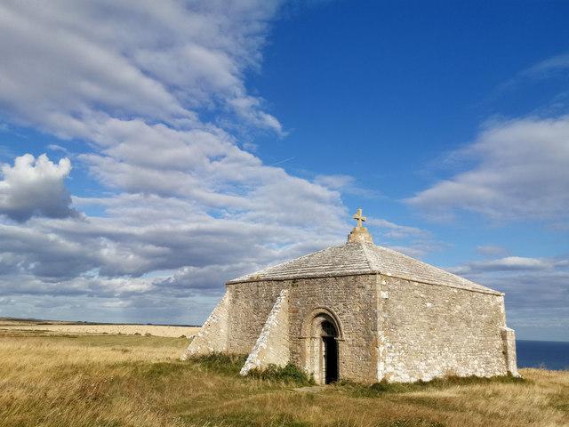 St Aldhelm's Chapel, St Aldhelm's Head,... © Phil Champion ...