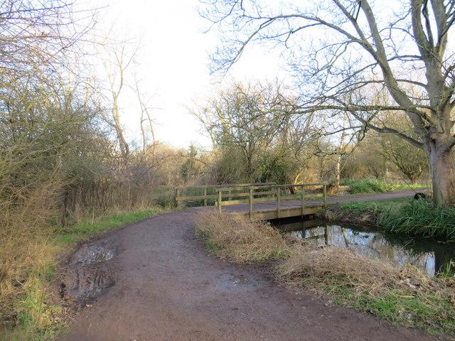 Bridge over a drain in Morden Hall Park