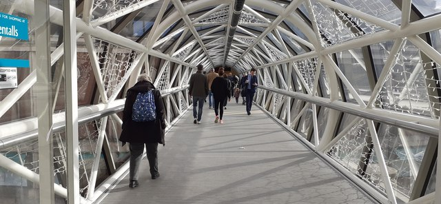 Bridge connecting the Bentall Centre to the car park, Kingston Upon Thames