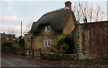 ST9068 : Tjatched cottage on Wick Lane near Lacock by David Howard