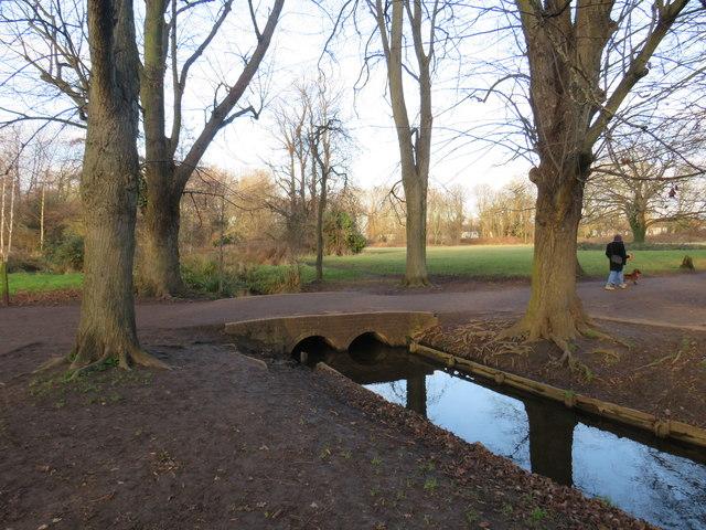 Bridge over a drainage channel, Morden Hall Park