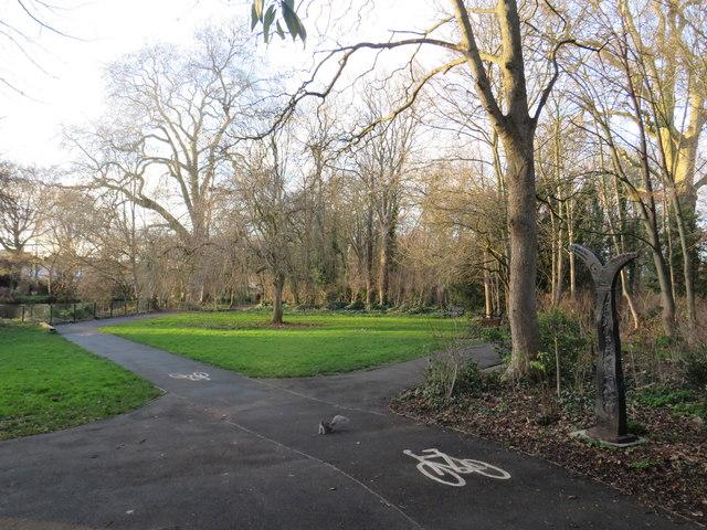 Squirrel on the path, near Mitcham