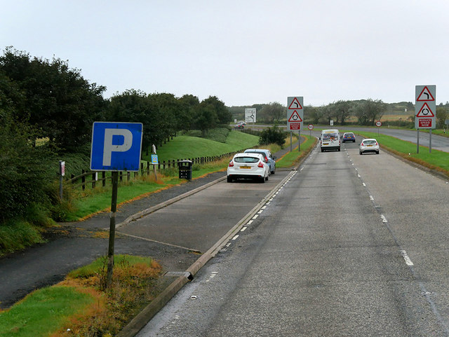 Layby on the A79 near Prestwick Airport
