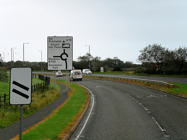 A79 near Monkton