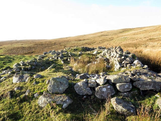 Ruin south of St David's Cairn