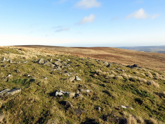 White Stones below Wether Cairn