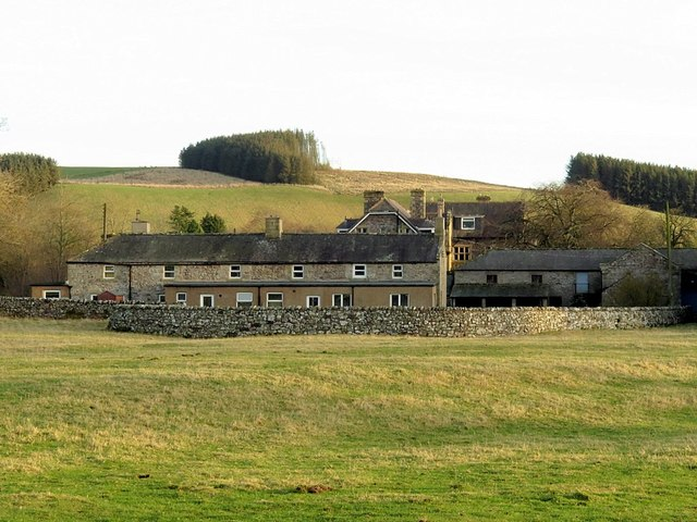 Clennell Hall & Farm from west