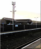 SS7597 : Telecoms mast behind Neath railway station by Jaggery