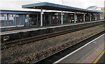 SS7597 : Canopy over Neath railway station platform 1 by Jaggery