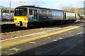 SS7597 : Swansea train leaving Neath station platform 1 by Jaggery