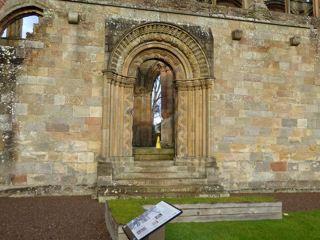 West Processional Doorway, Jedburgh Abbey