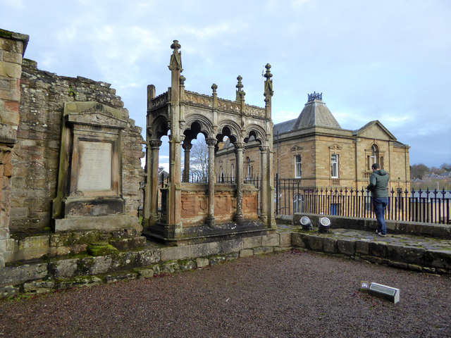 Ornate tomb, Jedburgh Abbey