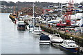 SU4312 : Boats and scrap metal, River Itchen by David Martin