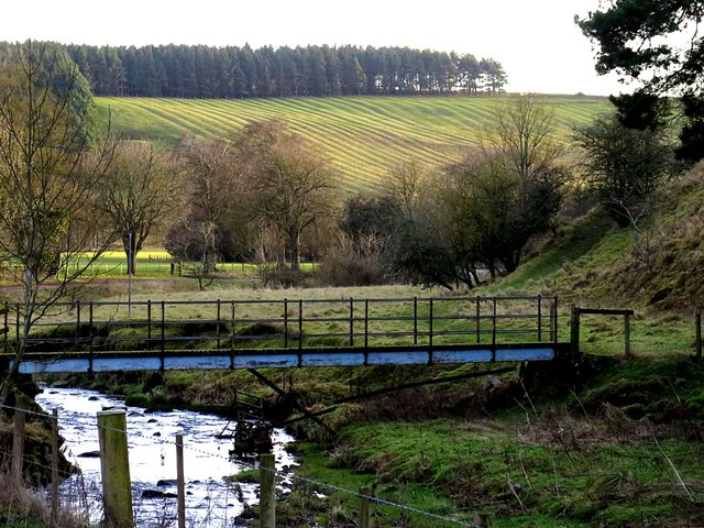 Footbridge over River Alwin at Clennell
