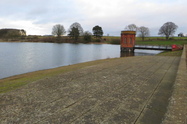 Sywell Reservoir and valve tower
